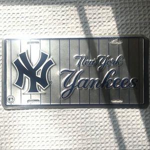 NY Yankees | Metal Decorative License Plate